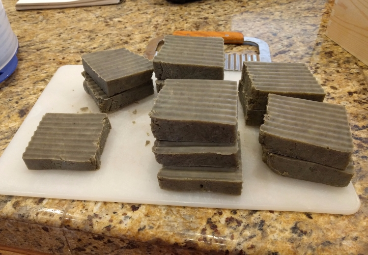 Home made soap the color of sick poo